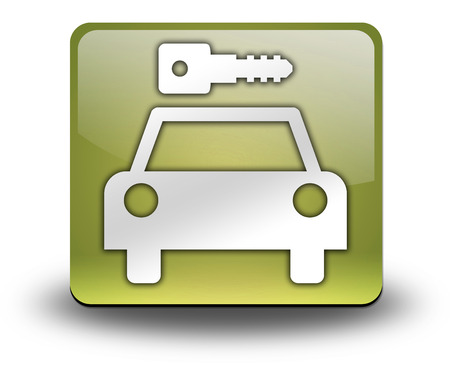 Icon, Button, Pictogram with Car Rental symbol Stock Photo - 27184891