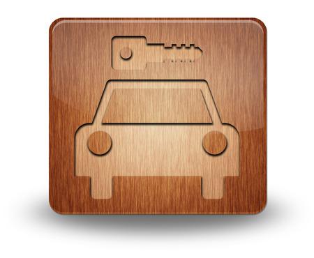 Icon, Button, Pictogram with Car Rental symbol Stock Photo - 27184899