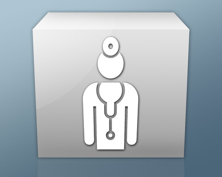 Icon, Button, Pictogram with Physician symbol photo