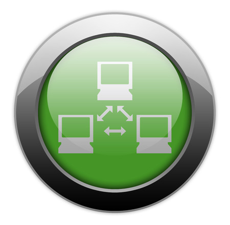 vpn: Icon, Button, Pictogram with Network symbol