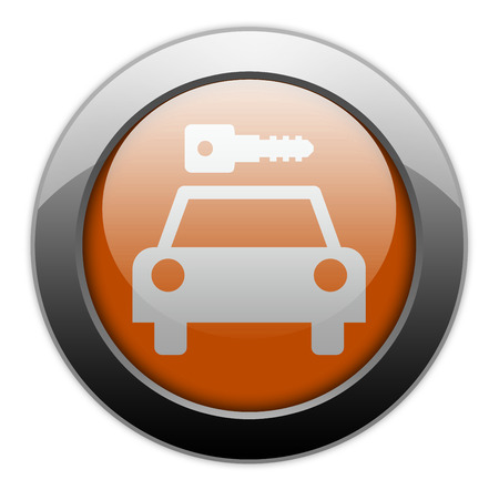 Icon, Button, Pictogram with Car Rental symbol Stock Photo - 27182477