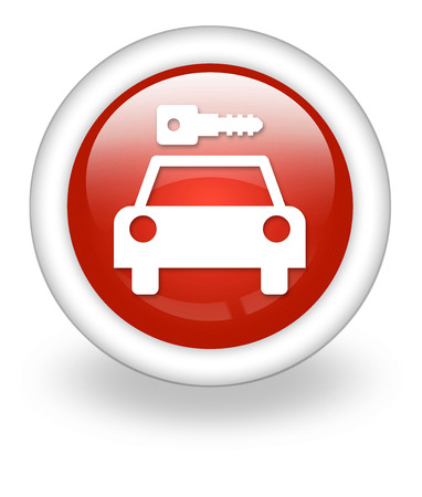 Icon, Button, Pictogram with Car Rental symbol Stock Photo - 27182491