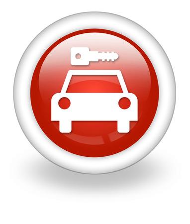 Icon, Button, Pictogram with Car Rental symbol Stock Photo - 27182491