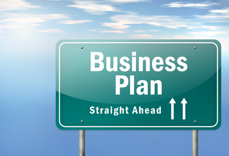 Highway Signpost with Business Plan wording photo