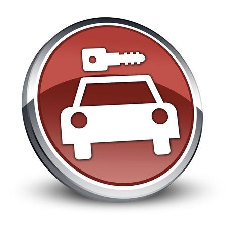 Icon, Button, Pictogram with Car Rental symbol Stock Photo - 27182516