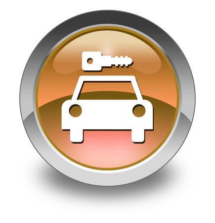 Icon, Button, Pictogram with Car Rental symbol Stock Photo - 27182511