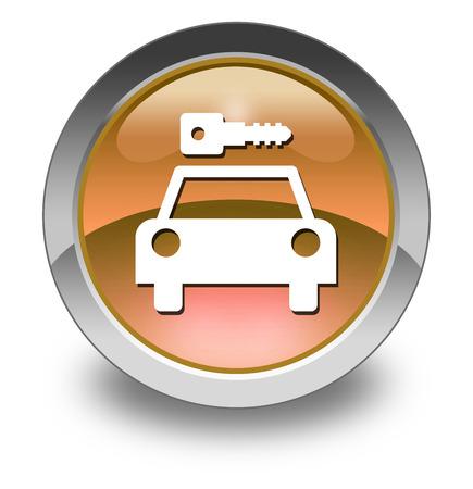 Icon, Button, Pictogram with Car Rental symbol Stock Photo - 27182511