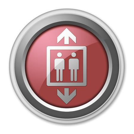 Icon, Button, Pictogram with Elevator symbol photo