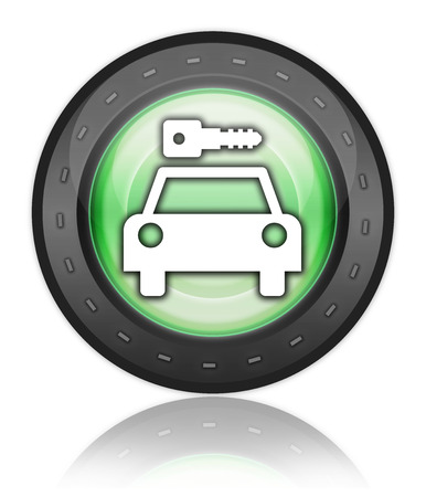 Icon, Button, Pictogram with Car Rental symbol Stock Photo - 27182572