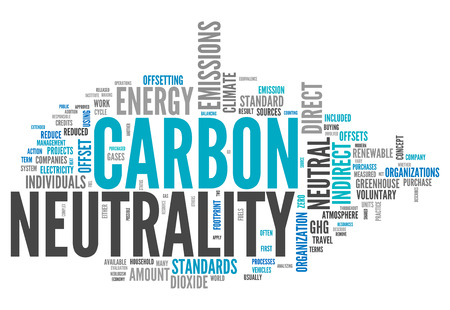 zero emission: Word Cloud with Carbon Neutrality related tags