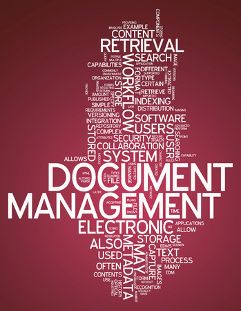 metadata: Word Cloud with Document Management related tags Stock Photo