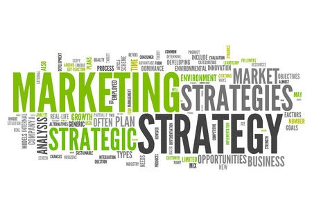 Nuage de mot avec la stratégie liée balises de marketing