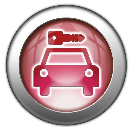 Icon, Button, Pictogram with Car Rental symbol Stock Photo - 27182596