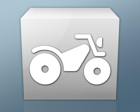three wheeler: Icon, Button, Pictogram with ATV symbol