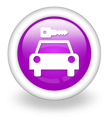 Icon, Button, Pictogram with Car Rental symbol Stock Photo - 27182656