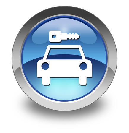 Icon, Button, Pictogram with Car Rental symbol Stock Photo - 27182682