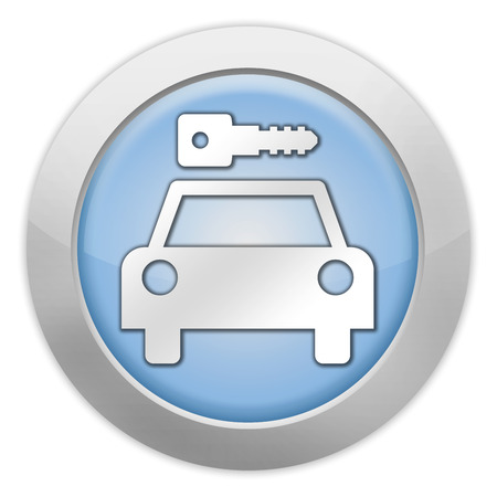 Icon, Button, Pictogram with Car Rental symbol Stock Photo - 27183016