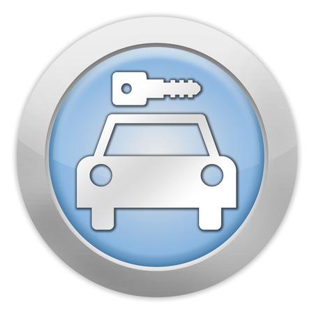 Icon, Button, Pictogram with Car Rental symbol Stock Photo - 27183016