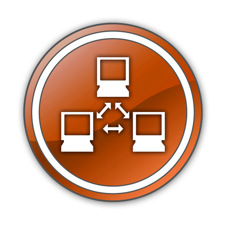 Icon, Button, Pictogram with Network symbol