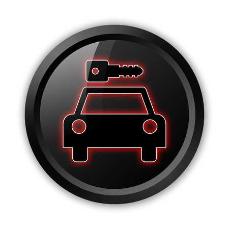 Icon, Button, Pictogram with Car Rental symbol Stock Photo - 27183052