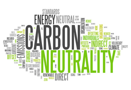 neutrality: Word Cloud with Carbon Neutrality related tags