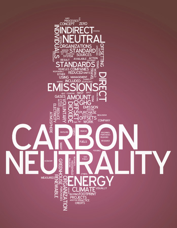 Word Cloud with Carbon Neutrality related tags photo