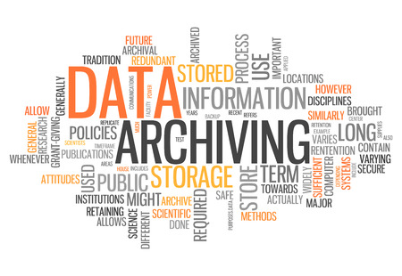 archiving: Word Cloud with Data Archiving related tags