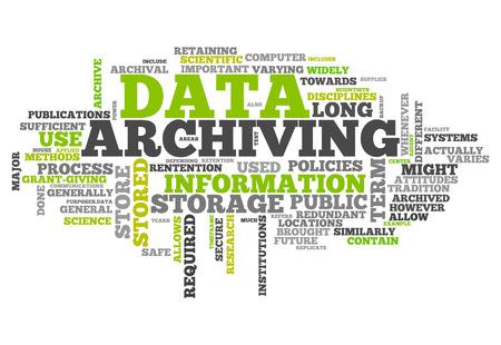 データのアーカイブと単語雲の関連タグ
