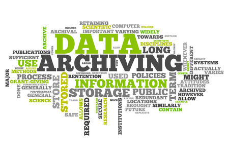 Word Cloud with Data Archiving related tags photo