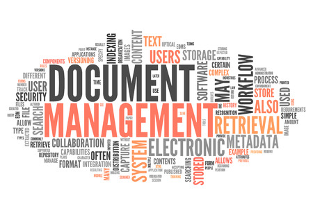 Word Cloud with Document Management related tags photo