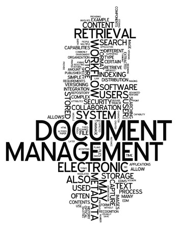 Word Cloud with Document Management related tags Stock fotó