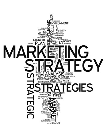 marketing strategy: Wort-Wolke mit Marketing-Strategie verwandte Tags
