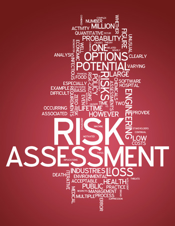 Word Cloud with Risk Assessment related tags photo