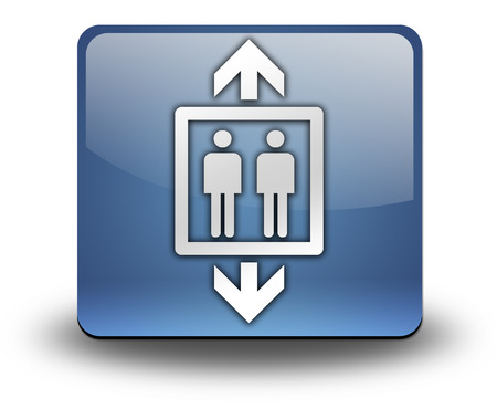 capacity: Icon, Button, Pictogram with Elevator symbol Stock Photo
