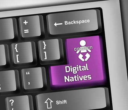 authorisation: Keyboard Illustration with Digital Identity wording