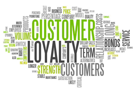 Word Cloud with Customer Loyalty related tags photo