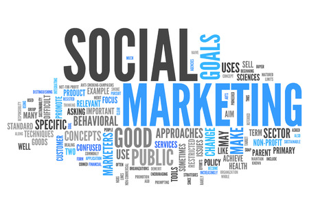 public market sign: Word Cloud with Social Marketing related tags