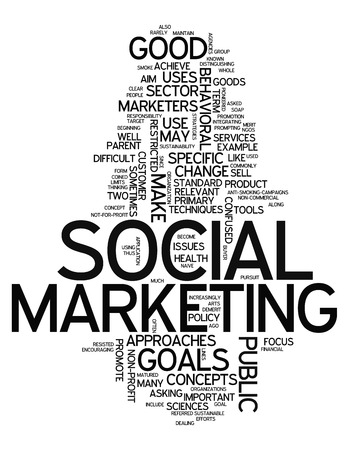recycling campaign: Word Cloud with Social Marketing related tags