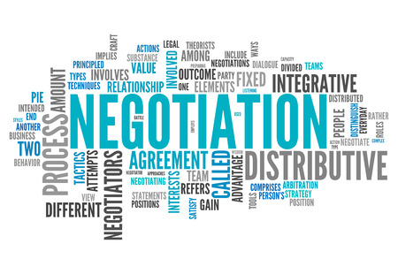 negotiate: Word Cloud with Negotiation related tags