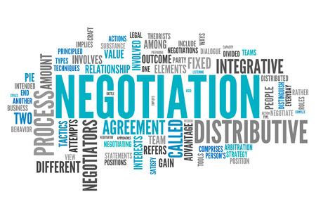 Wort-Wolke mit Negotiation verwandte Tags Lizenzfreie Bilder