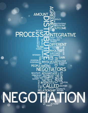 negotiator: Word Cloud with Negotiation related tags