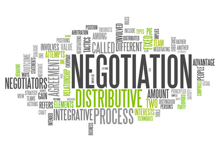 negotiation: Word Cloud with Negotiation related tags