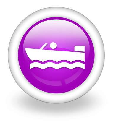 Icon, Button, Pictogram with Motorboat symbol photo