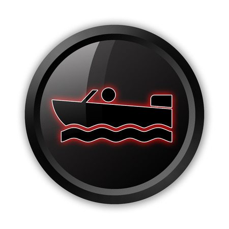 motorboat: Icon, Button, Pictogram with Motorboat symbol Stock Photo