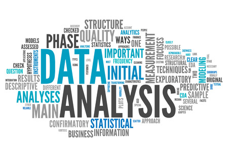 Word Cloud with Data Analysis related tags photo