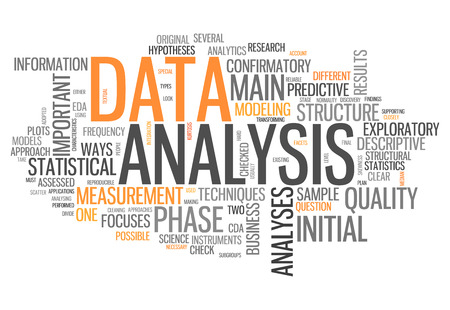 qualitative: Word Cloud with Data Analysis related tags