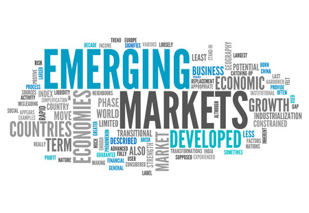 industrialized country: Word Cloud with Emerging Markets related tags