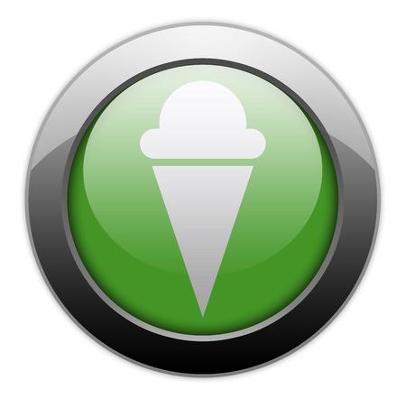 Icône, Bouton, pictogramme avec le symbole de la crème glacée Banque d'images