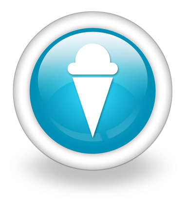 Icon, Button, Pictogram with Ice Cream symbol Stock Photo