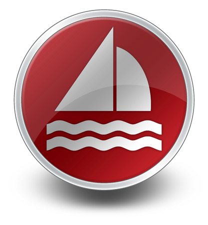 Icon, Button, Pictogram with Sailing symbol photo